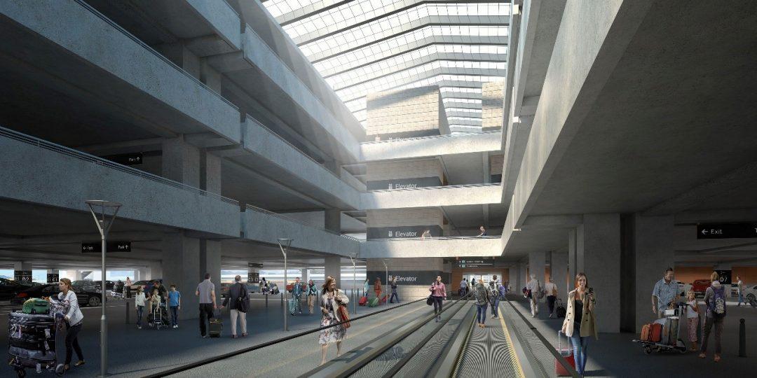Salt Lake City International Airport Parking Structure. Salt Lake City, UT